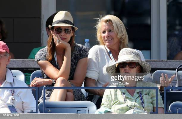 Bridget Moynahan and Jill Smoller, agent of Serena Williams, attend Day 3 of the 2014 US Open at USTA Billie Jean King National Tennis Center on...