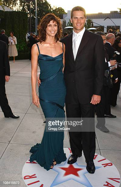 Bridget Moynahan and Tom Brady during 2005 Vanity Fair Oscar Party Arrivals at Mortons in Los Angeles California United States