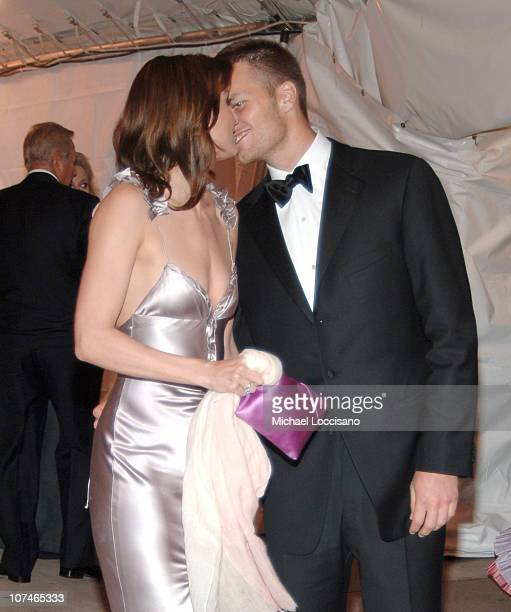 Bridget Moynahan and Tom Brady during 'Chanel' Costume Institute Gala Opening at the Metropolitan Museum of Art Departures at The Metropolitan Museum...