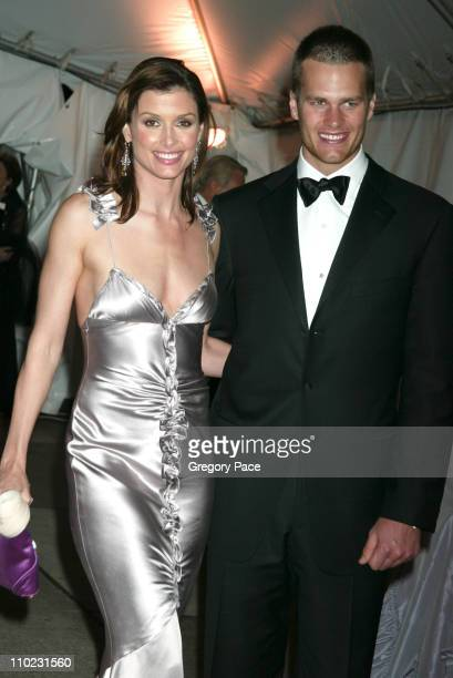 """Bridget Moynahan and Tom Brady during The Costume Institute's Gala Celebrating """"Chanel"""" - Departures at The Metropolitan Museum of Art in New York..."""
