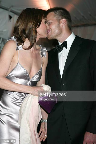 Bridget Moynahan and Tom Brady during The Costume Institute's Gala Celebrating Chanel Departures at The Metropolitan Museum of Art in New York City...