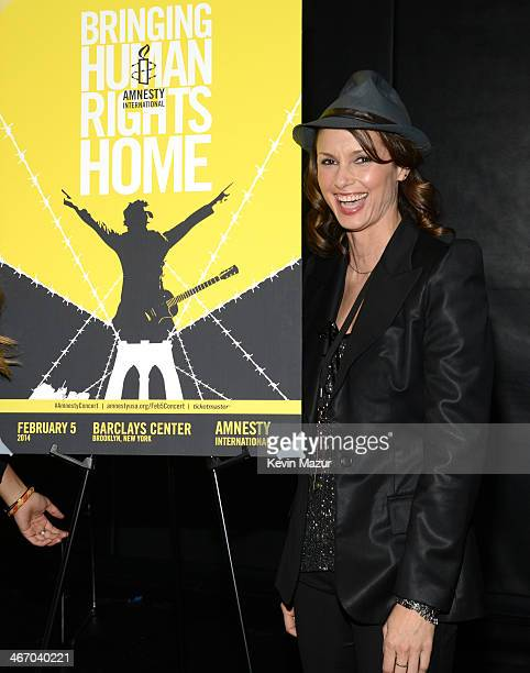 Bridget Moynahan attends the Amnesty International Concert presented by the CBGB Festival at Barclays Center on February 5 2014 in New York City