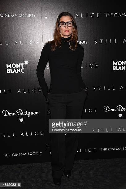 Bridget Moynahan attends The Cinema Society with Montblanc and Dom Perignon screening of Sony Pictures Classics' 'Still Alice' at Landmark's Sunshine...