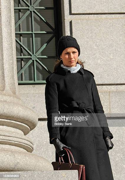 """Bridget Moynahan filming on location for """"Blue Bloods"""" on March 14, 2013 in New York City."""