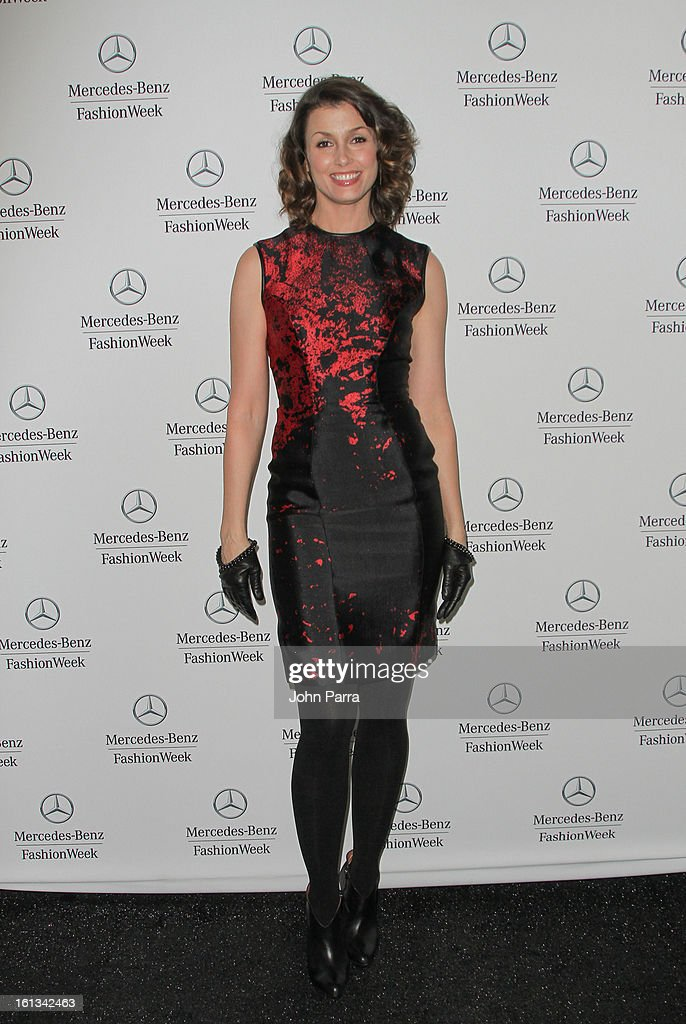 Bridget Moynahan is seen during Fall 2013 Mercedes-Benz Fashion Week at Lincoln Center for the Performing Arts on February 9, 2013 in New York City.