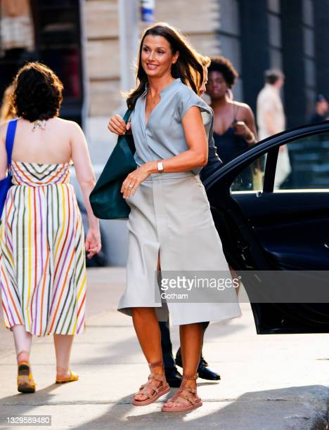 Bridget Moynahan on location for 'And Just Like That...' the reboot to 'Sex and the City' on July 19, 2021 in New York City.