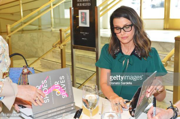 Bridget Moynahan signs books at Saks Beverly Hills Celebrates Our Shoes Our Selves Book Launch with Bridget Moynahan and Amanda Benchley on April 25...