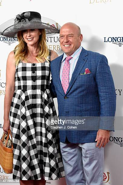 Bridget Norris and actor Dean Norris attend the 141st Kentucky Derby at Churchill Downs on May 2 2015 in Louisville Kentucky