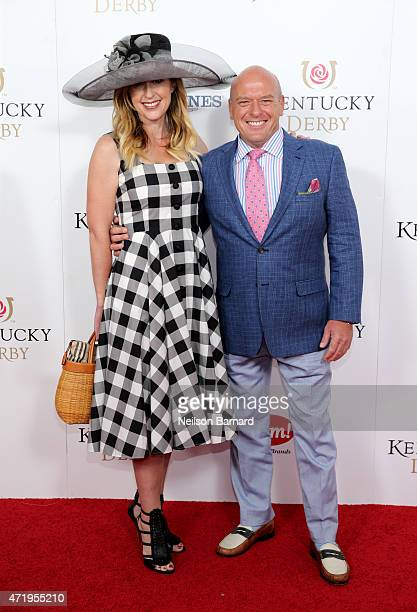 Bridget Norris and actor Dean Norris attends the 141st Kentucky Derby at Churchill Downs on May 2 2015 in Louisville Kentucky