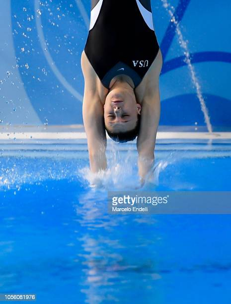 Bridget O'Neil of United States competes in the Mixed International Team Final during Day 11 of Buenos Aires Youth Olympic Games 2018 at Europe...