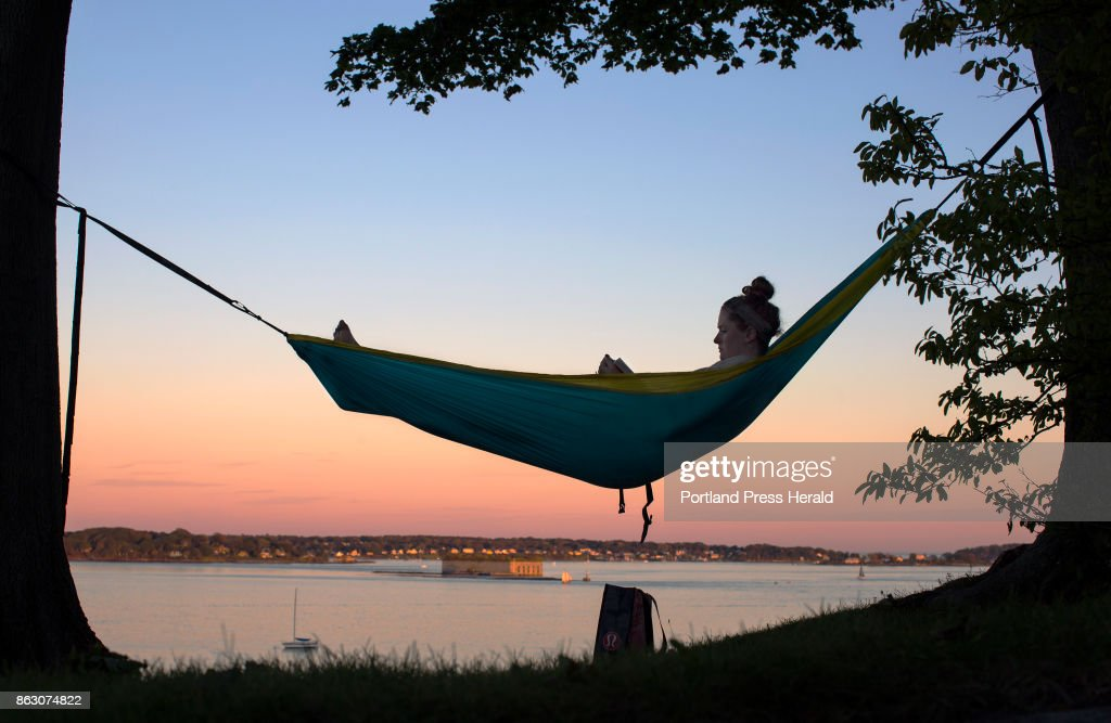 bridget quilty 22 of portland reads  u0027the circle u0027 by dave eggers hammock feature pictures   getty images  rh   gettyimages