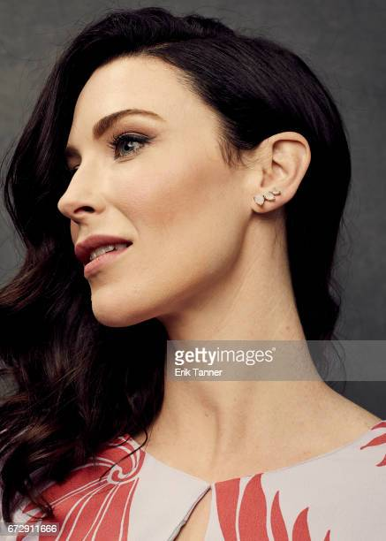 Bridget Regan from 'Devil's Gate' poses at the 2017 Tribeca Film Festival portrait studio on April 24, 2017 in New York City.