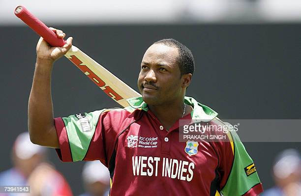 West Indies Captain Brian Lara walks back to pavillion after his dismissal during the Super-Eight ICC World Cup cricket match against England at the...