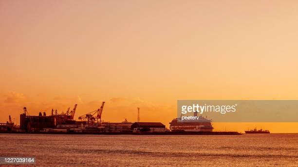 "bridgetown harbor, barbados - ""peeter viisimaa"" or peeterv stock pictures, royalty-free photos & images"
