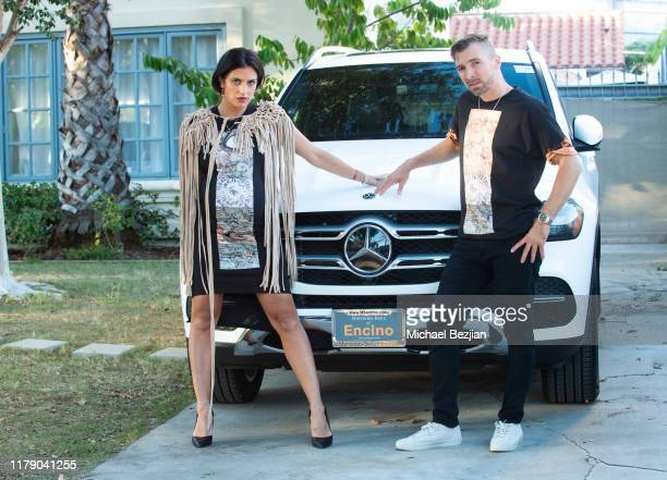 Bridgetta Tomarchio and Jimi Merk wear jewelry by Jimeye Designs and clothing by Gary Allen Designs also supporting MercedesBenz of Encino and...
