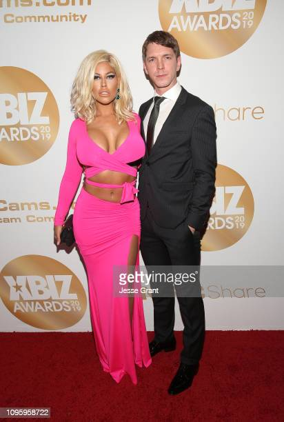 Bridgette B and Markus Dupree attend the 2019 XBIZ Awards on January 17, 2019 in Los Angeles, California.