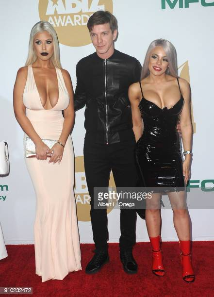 Bridgette B., Markus Dupree and Luna Star arrive for the 2018 XBIZ Awards held at J.W. Marriot at L.A. Live on January 18, 2018 in Los Angeles,...