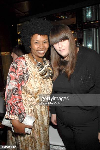Bridgette Romanek and Kate Mulleavy attend Cameron Silver and Susan Casden host a dinner in honor of Harold Koda and Kohle Yohannan at SLS Hotel on...
