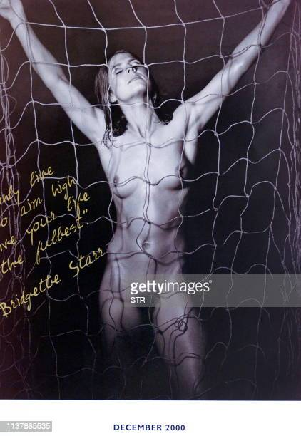 Bridgette Starr of the Matildas' Australia's women's soccer team poses nude for a calendar produced to promote women's soccer in Australia in Sydney...