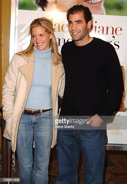 Bridgette Wilson and Pete Sampras during Something's Gotta Give Los Angeles Premiere at Mann Village Theater in Westwood California United States