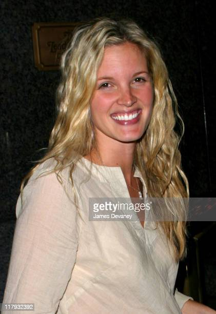 Bridgette Wilson during US Open winner Pete Sampras and wife Bridgette Wilson Sighting at Trump International Hotel in New York City New York United...