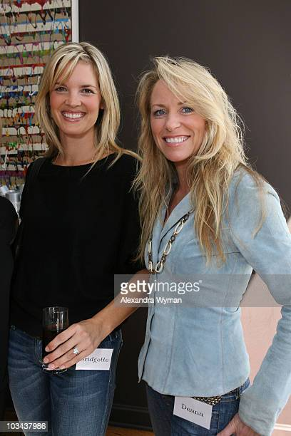 Bridgette Wilson Sampras and Deanna Carter enjoy the day at the P3 and Forbeslife executive women's day of beauty for mother's of patients of...