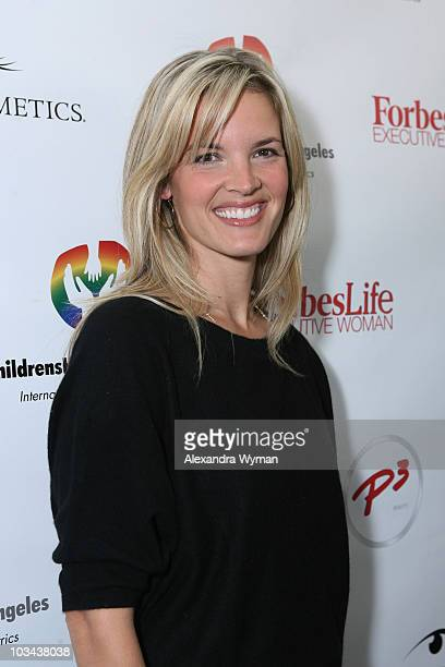 Bridgette Wilson Sampras enjoys the day at the P3 and Forbeslife executive women's day of beauty for mother's of patients of Children's Hospital Los...