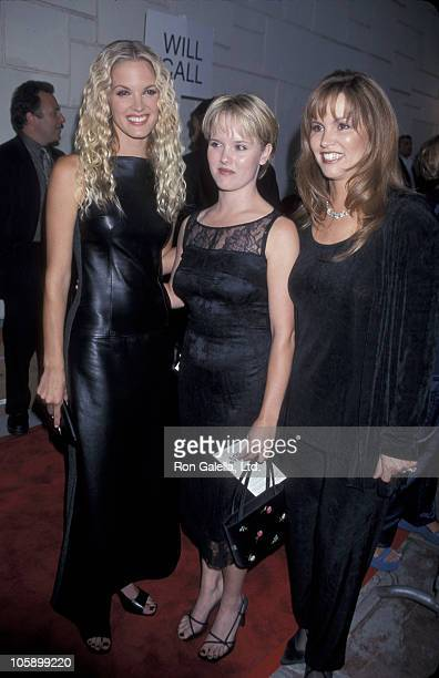 Bridgette Wilson Tracy Wilson and their mother during Love Stinks Westwood Premiere at Mann's Festival Theater in Westwood California United States