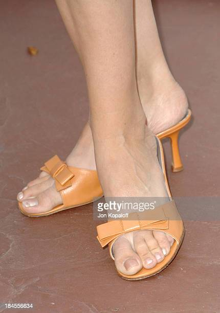 Bridgette WilsonSampras shoe's during Aerin Lauder Hosts Luncheon in Honor of Gwyneth Paltrow's Pleasures of Gwyneth Paltrow Collection Arrivals at...