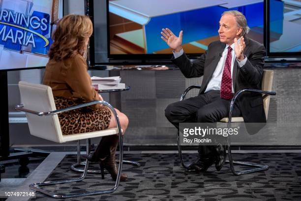 Bridgewater Associated founder Ray Dalio visits Mornings With Maria hosted by Maria Bartiromo at Fox Business Network Studios on November 30 2018 in...