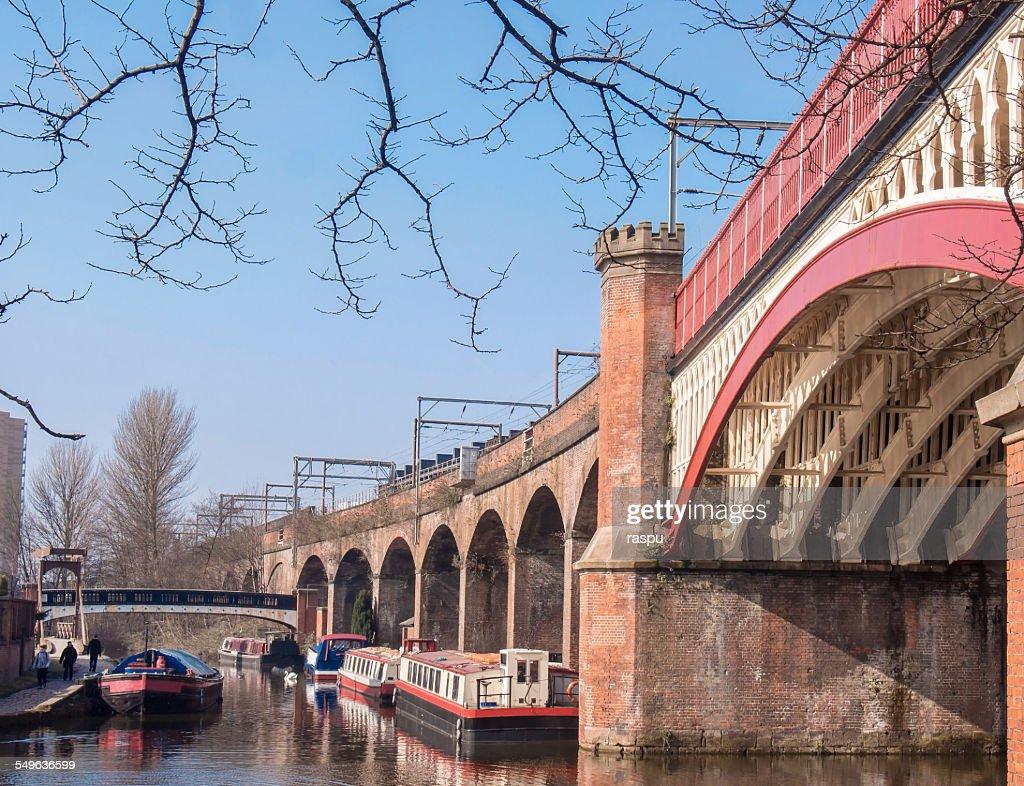 Bridgewater Canal Castlefield Manchester Stock Photo