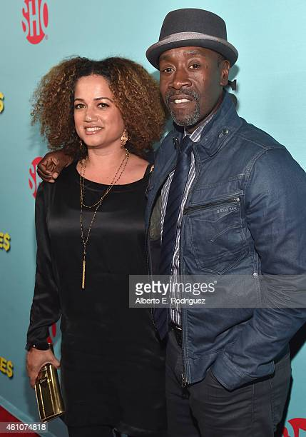 Bridgid Coulter and actor Don Cheadle arrives to Showtime's Celebration of AllNew Seasons Of Shameless House Of Lies And Episodes at Cecconi's...