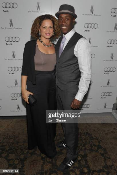 Bridgid Coulter and Actor Don Cheadle attend the party hosted by the Weinstein Company and Audi to Celebrate Awards Season at Chateau Marmont on...