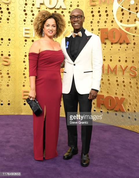 Bridgid Coulter and Don Cheadle arrives at the 71st Emmy Awards at Microsoft Theater on September 22, 2019 in Los Angeles, California.