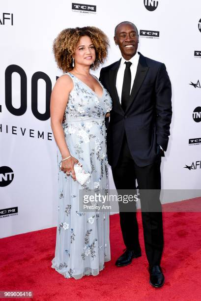Bridgid Coulter and Don Cheadle attend 46th AFI Life Achievement Award Gala Tribute on June 7 2018 in Hollywood California
