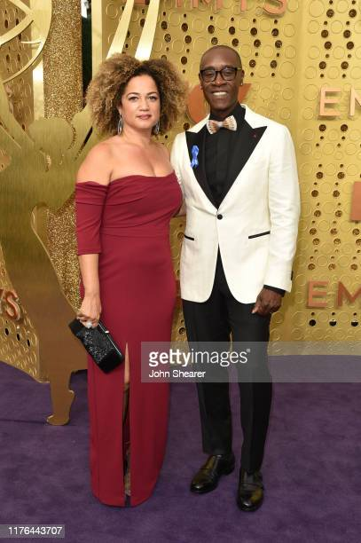 Bridgid Coulter and Don Cheadle attend the 71st Emmy Awards at Microsoft Theater on September 22 2019 in Los Angeles California