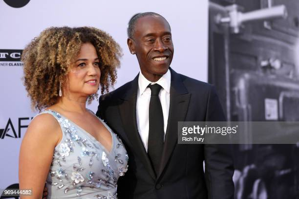 Bridgid Coulter and Don Cheadle attend the American Film Institute's 46th Life Achievement Award Gala Tribute to George Clooney at Dolby Theatre on...