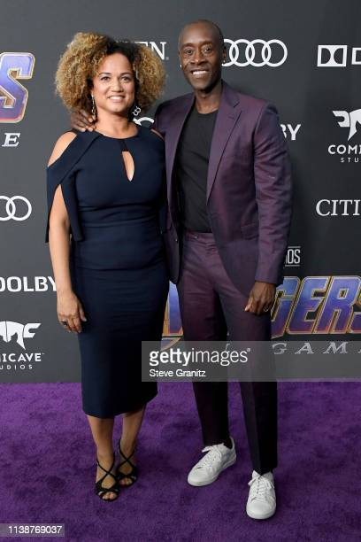 Bridgid Coulter and Don Cheadle attend the world premiere of Walt Disney Studios Motion Pictures Avengers Endgame at the Los Angeles Convention...