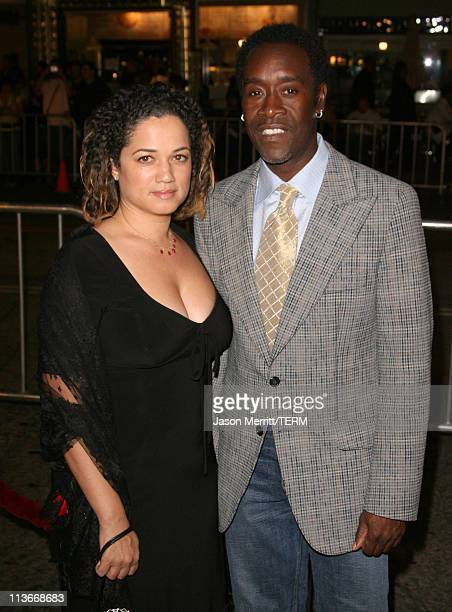Bridgid Coulter and Don Cheadle during Babel Los Angeles Premiere Arrivals at Mann Village in Westwood California United States