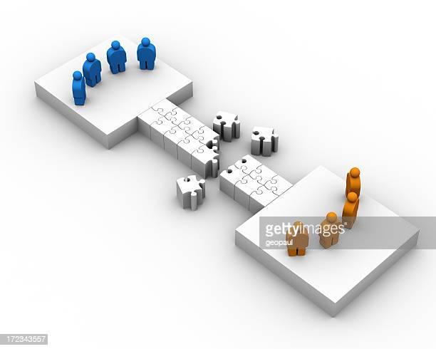 Bridging two groups