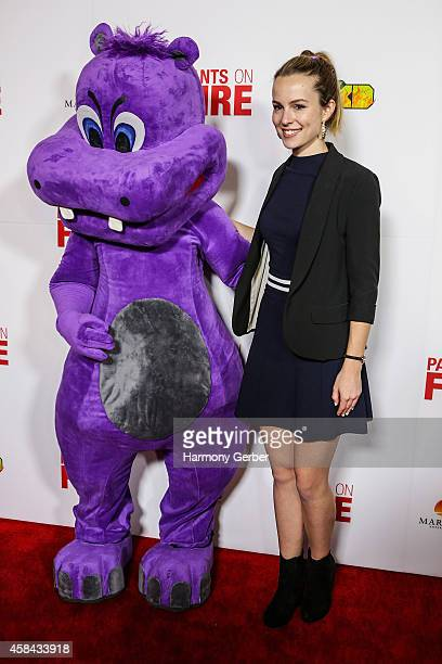 Bridgit Mendler arrives to the Disney XD Pants On Fire premiere on November 4 2014 in Hollywood California