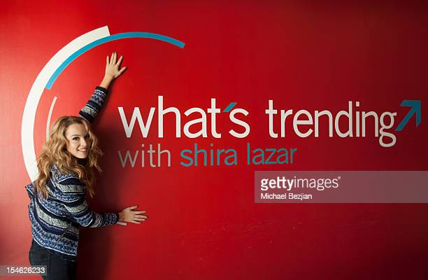 "Bridgit Mendler attends Bridgit Mendler Visits ""What's Trending"" on October 23, 2012 in Hollywood, California."
