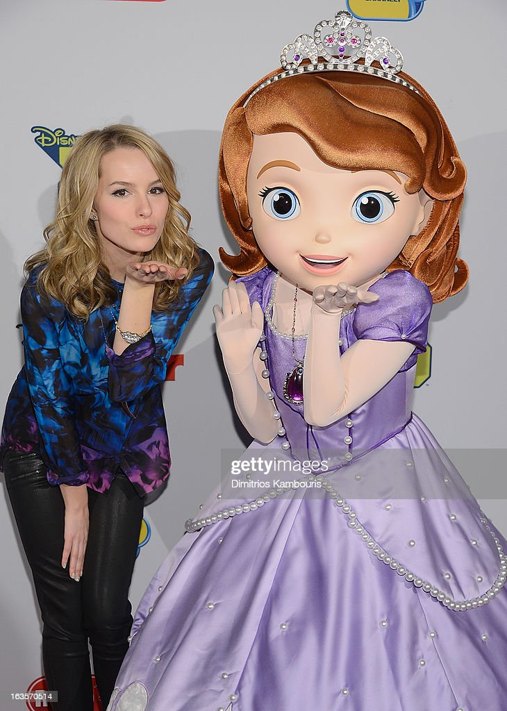Bridgit Mendler attends the Disney Channel Kids Upfront 2013 at Hudson Theatre on March 12, 2013 in New York City.