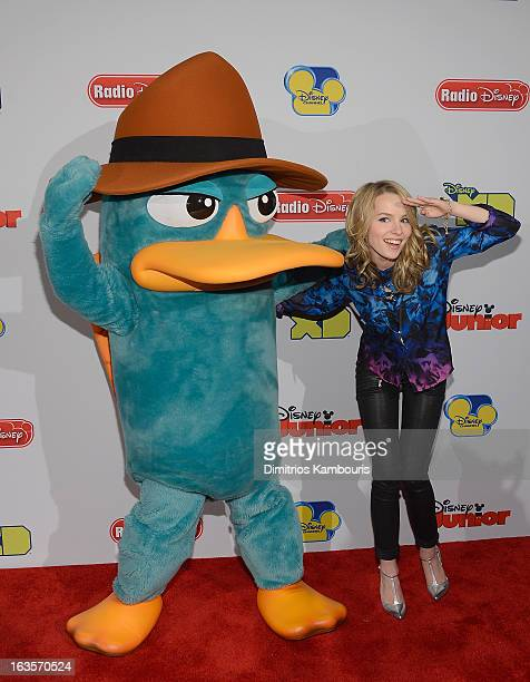 Bridgit Mendler attends the Disney Channel Kids Upfront 2013 at Hudson Theatre on March 12 2013 in New York City