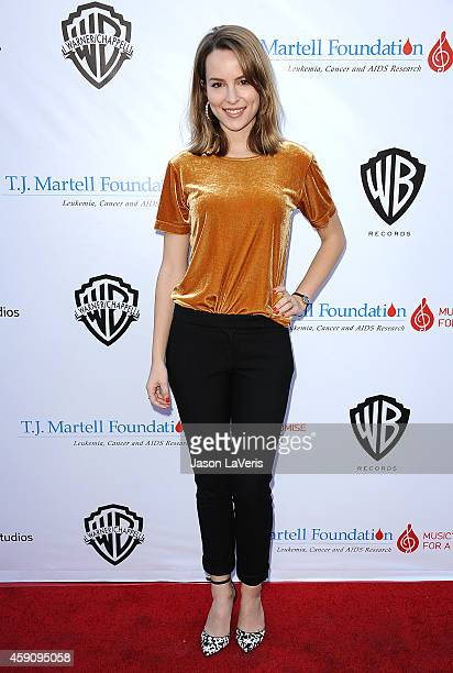 Bridgit Mendler attends the TJ Martell Foundation family day at CBS Studios on November 16 2014 in Studio City California
