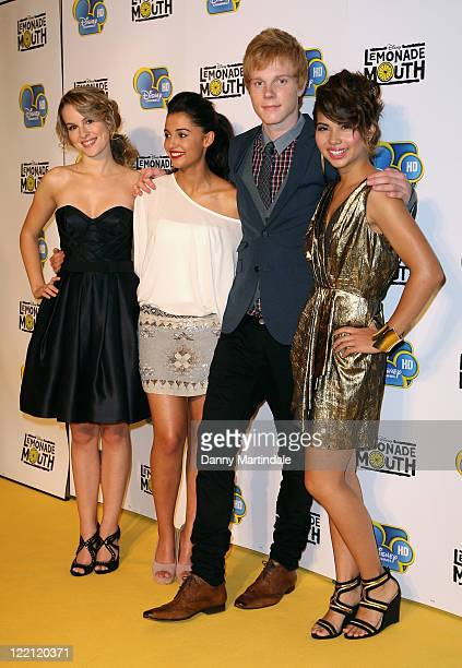 Bridgit Mendler Naomi Scott Adam Hicks and Hayley Kiyoko attend a special screening for Lemonade Mouth at BAFTA 195 Piccadilly on August 25 2011 in...