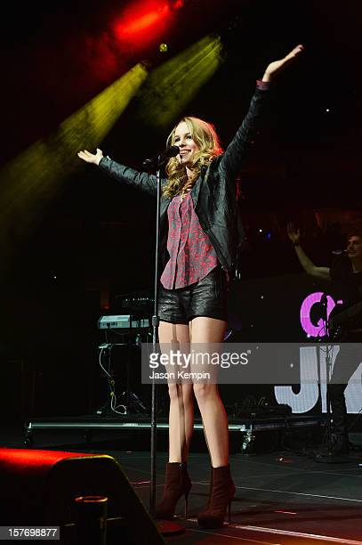 Bridgit Mendler performs onstage during Q102's Jingle Ball 2012 presented by XFINITY, at Wells Fargo Center on December 5, 2012 in Philadelphia.