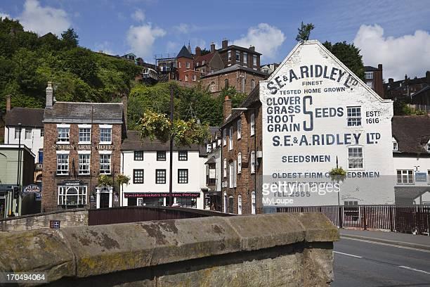 Bridgnorth seen from the bridge over the River Severn Shropshire England United Kingdom