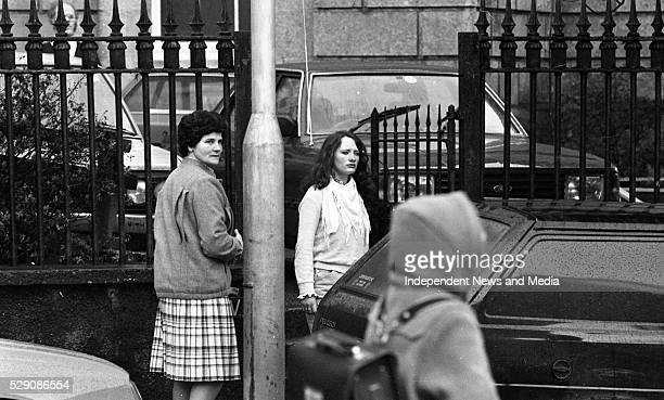 Bridie McMahon who saw Ann on the morning of her death with Anne's best friend Mary Maguire at the inquest into the death of Ann Lovett Circa 1984