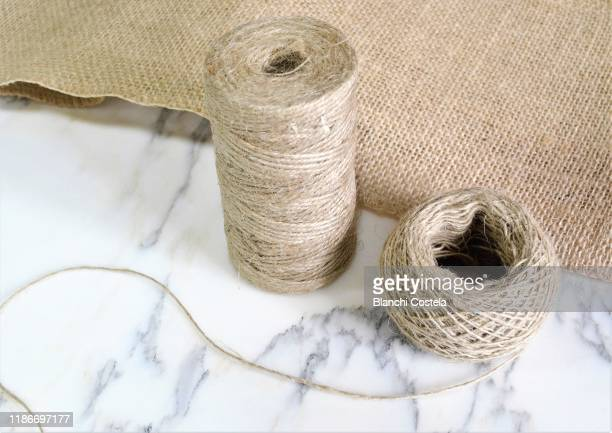 bridle thread and burlap cloth - embroidery stock pictures, royalty-free photos & images